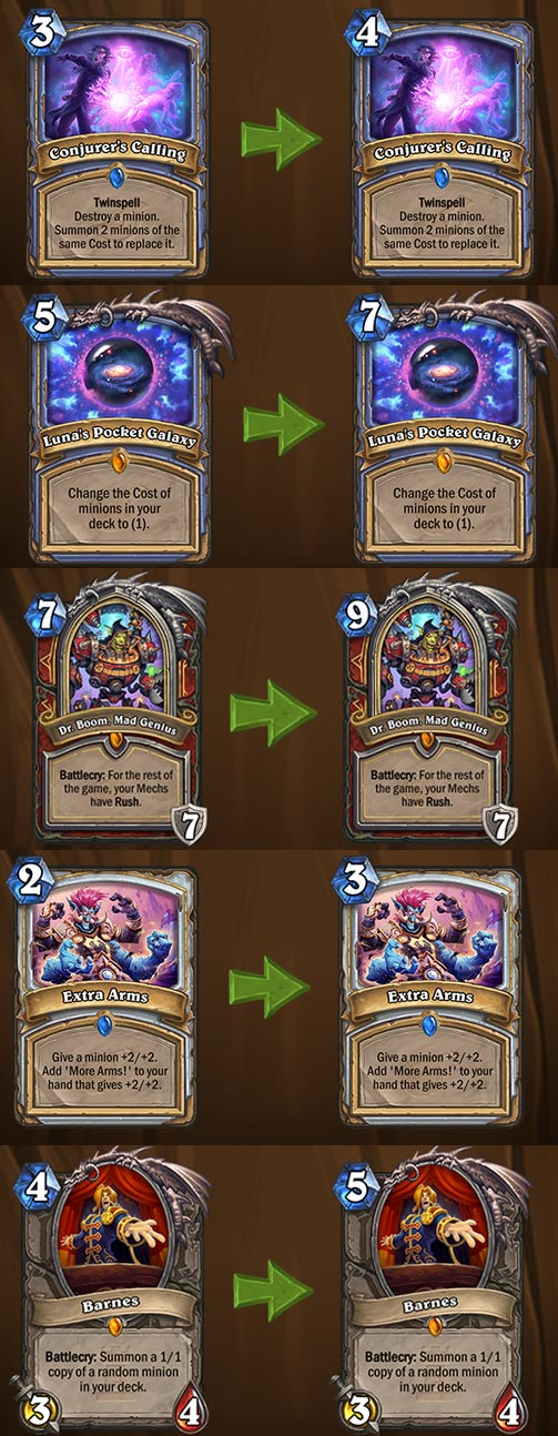 nerf cards Hearthstone